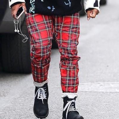 Reclaimed Vintage - Skinny tartan trousers