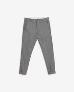 Zara geruite broek