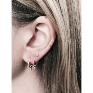 Vee hoop oorbellen 10mm gold plated