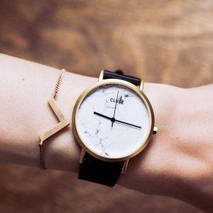 Cluse watch - la roche gold white marble black