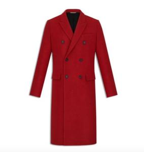Dior - manteau croisé, laine rouge