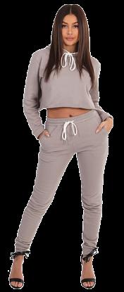 Cropped hoodie joggingsuit