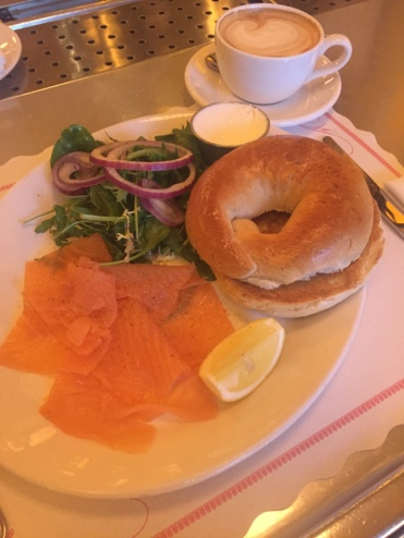 Zalm & roomkaas bagel