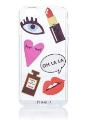 Iphoria patches transparent telefoonhoes voor iphone