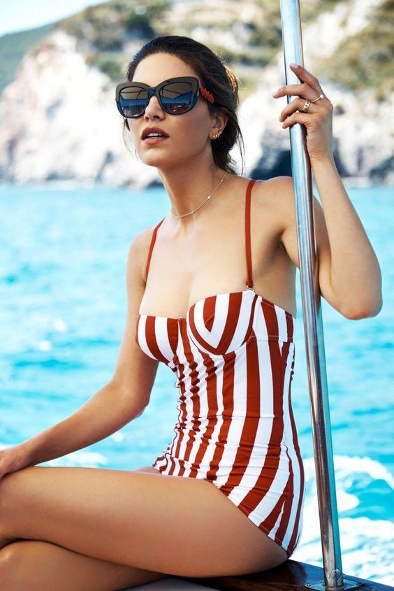Negin D&G swimsuit