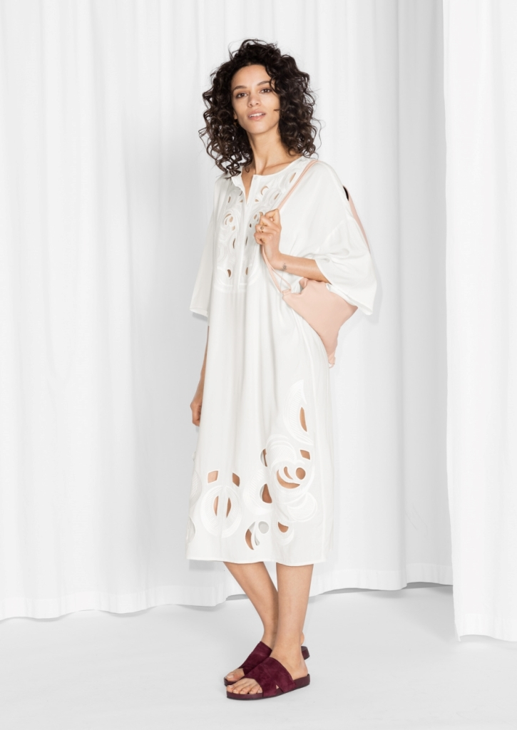 Cut-Out Embroidery Dress