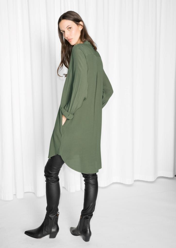 Collarless Dress