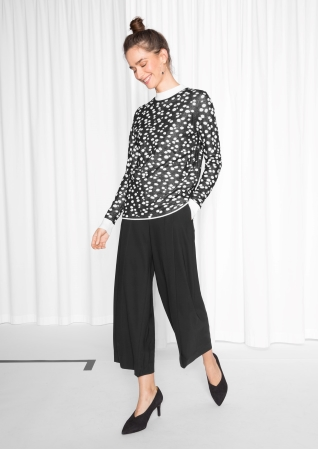 Jacquard Silk Dot Knit