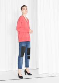 Patched Denim Jeans