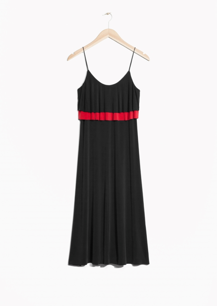 Cupro Frill Dress