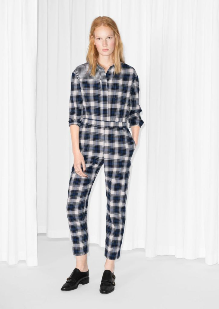 Checkered Cotton Jumpsuit