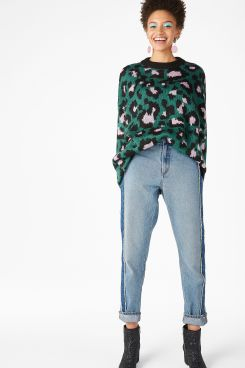 Monki - Leopard knit sweater